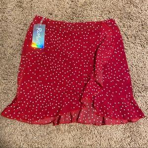 NWT Romwe Star ruffle skirt